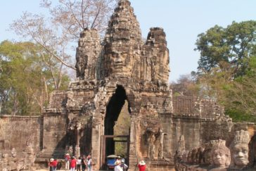 "South gate of Angkor – ""Kung Kea Boat"""