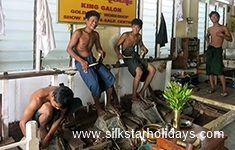 Making Gold Leaf in Mandalay in Myanmar by SilkStarHolidays.com