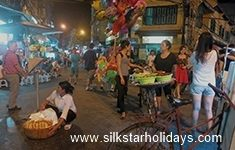 Night Market in Hanoi in Vietnam by SilkStarHolidays.com